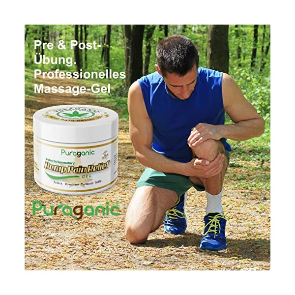 Hemp Pain Relief Gel – Massage Gel to Relief Joint & Muscle Tension, Made from CO2 Extracted Hemp & Natural Extracts, Soothe Feet, Knee, Neck, Back, Shoulders, 250ml