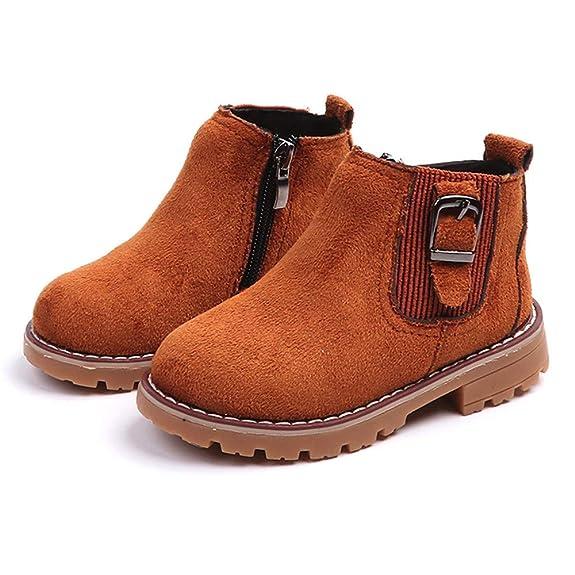 Botas Niña Invierno K-youth Botines de Suede con Cremallera Caliente Zapatos Martin Boots Zapatos Niña Fiesta Bautizo Zapatillas de Deporte Antideslizantes ...