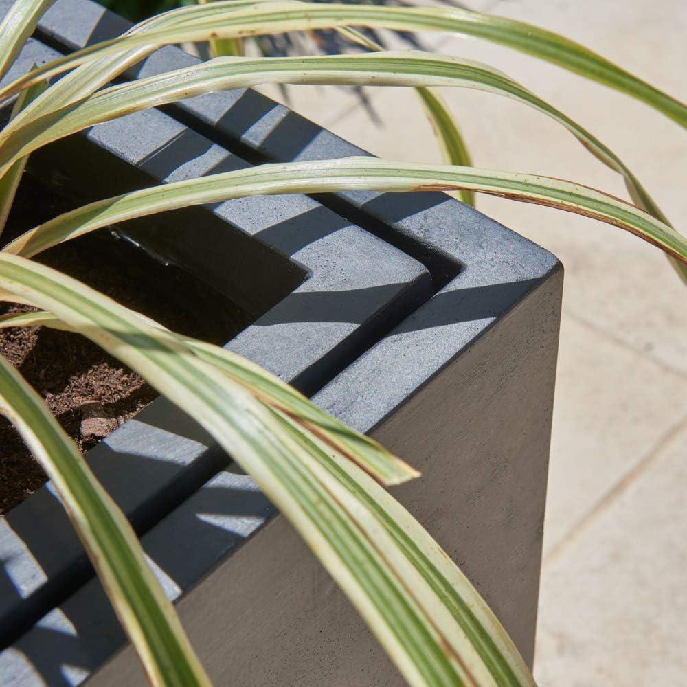 H60cm x L89cm /à Insertion Grande Jardini/ère Auge en Zinc Noir