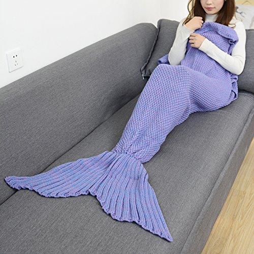 La Petite Sirène louvre sieste et queue de poisson climatisation couverture Couverture canapé et de la climatisation et de cadeaux créatifs ,140cm*70cm (enfants),