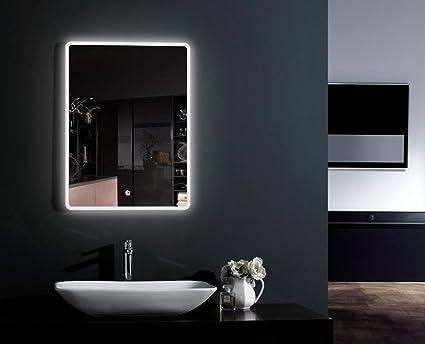 Alpha specchio illuminazione led antiappannamento da bagno o