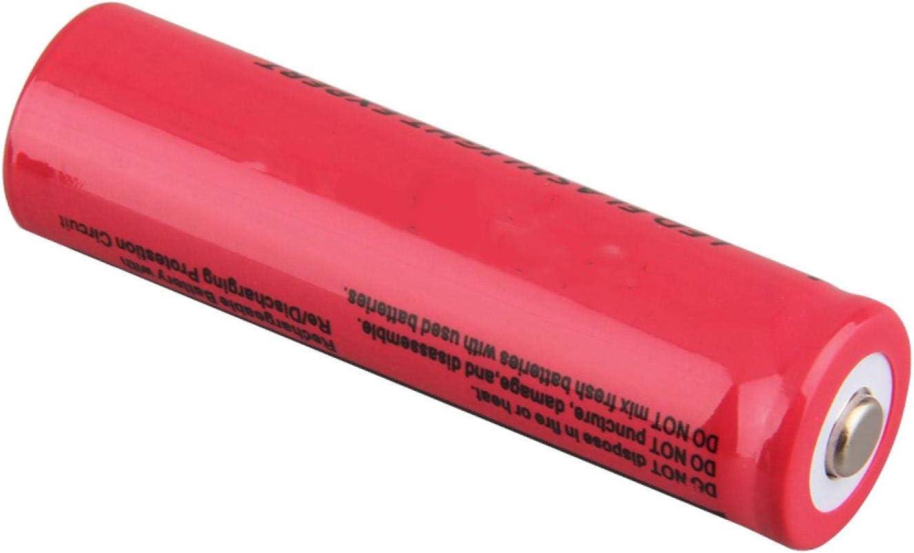 RECORDARME 18650 3.7v 9800mah Li-Ion Battery Rechargable Long Life Circles, for Headlamp Flashlight Torch Toy Camera 6pieces 6pieces
