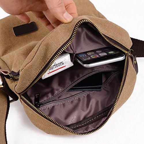 Männer Und Frauen Jahrgang Leinwand Messenger Aktentasche Schulter Tote Sling Sport Tasche,C-20cm*9cm*25cm