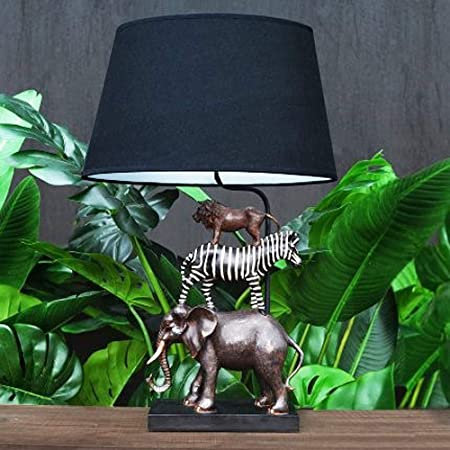 Voss Design élégante Lampe De Table Safari 70 Cm éléphant