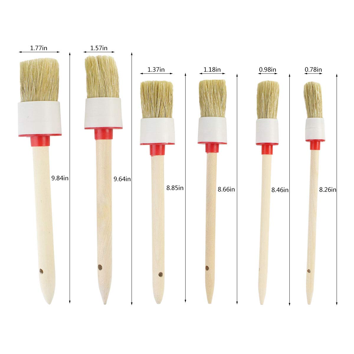 baotongle 12pcs Auto Detailing Brush Kit, Car Cleaning Brush Set Car Cleaning Tools Natural Hog Hair Brush Kit for Car Cleaning Vents, Dash, Trim, Seats, Wheels