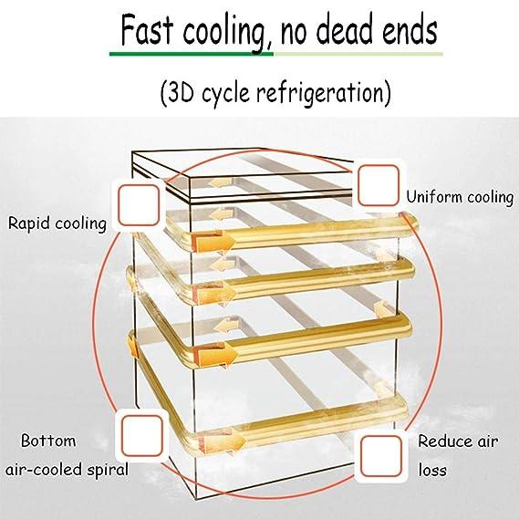 QCYSK Mini-refrigerador Congelador Vertical de una Puerta ...