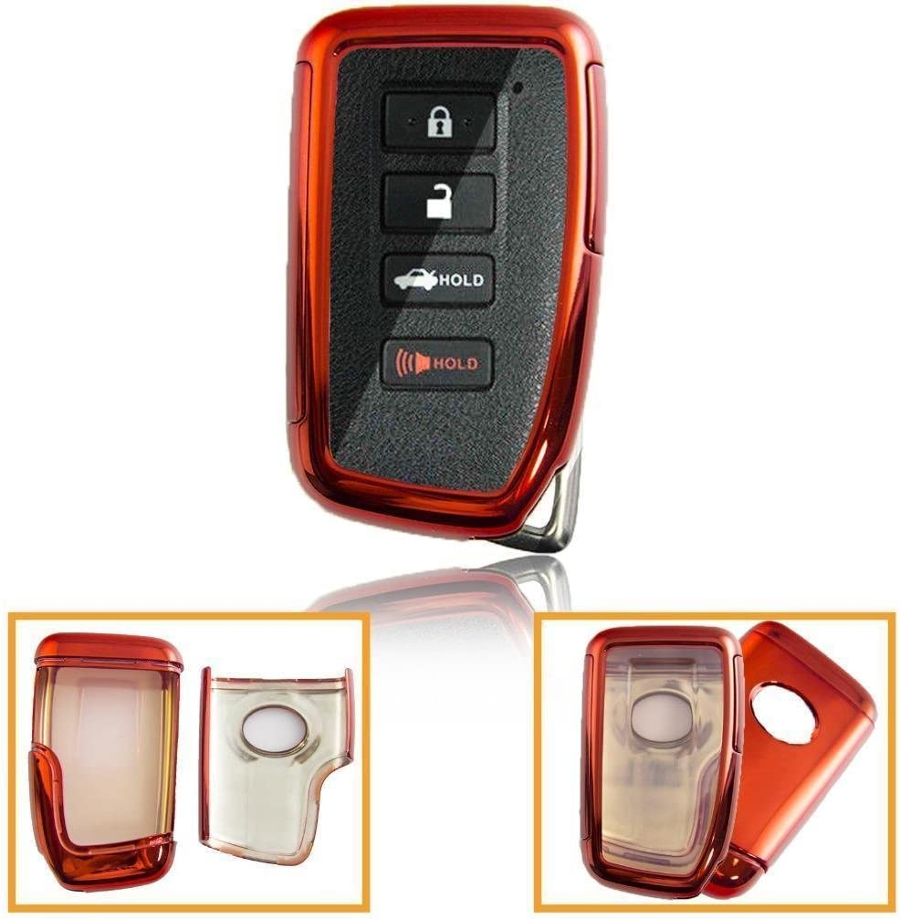 Full Protection Cover Red TPU Smart Entry Key Fob Case for Lexus RX is GS LS SC NX ES