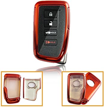 Chrome Blue TPU Key Fob Case For Lexus IS ES GS LS RC NX RX LX 200 250 350 etc