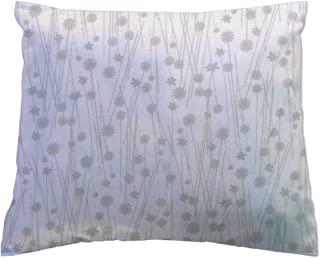 product image for SheetWorld Crib / Toddler Percale Baby Pillow Case - Grey Floral Stems - Made In USA