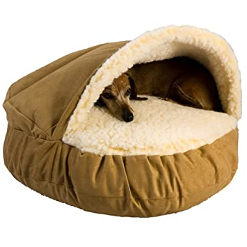 Amazon Com Snoozer Luxury Cozy Cave Camel Large Pet Beds Pet