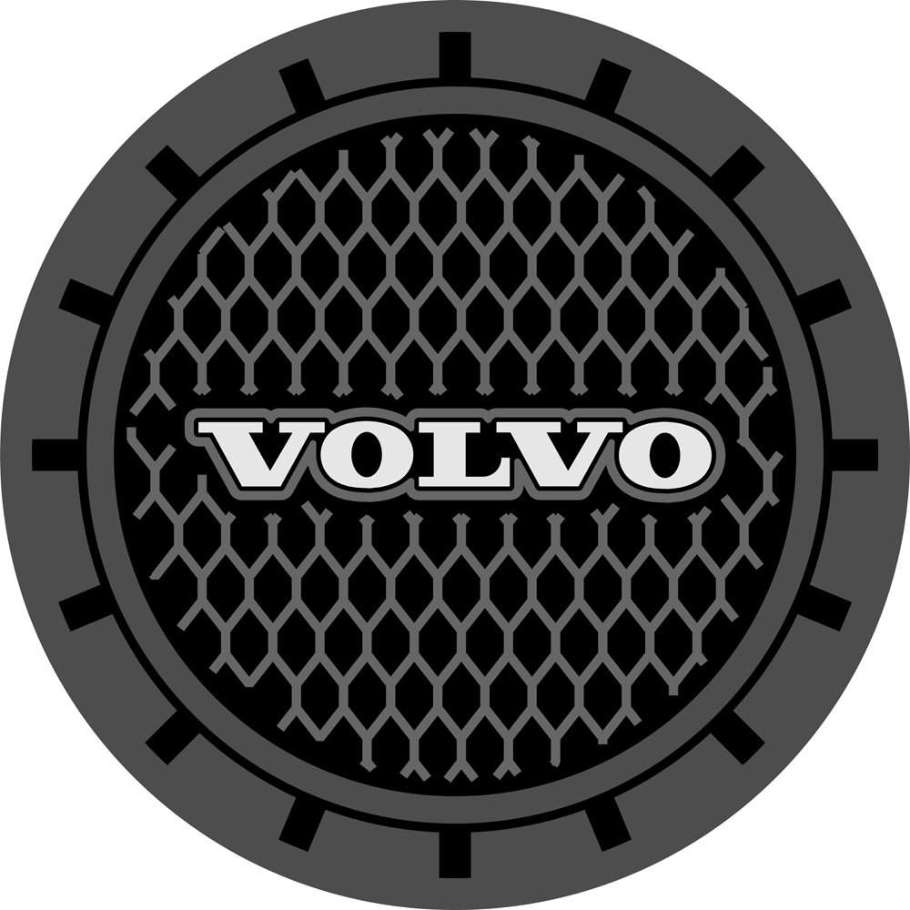Auto sport 2.75 Inch Diameter Oval Tough Car Logo Vehicle Travel Auto Cup Holder Insert Coaster Can 2 Pcs Pack Fit Acura Accessory