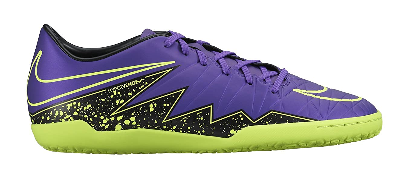 hot sale online eb597 f677f Amazon.com  Nike Hypervenom Phelon II IC Indoor Soccer Shoe (Hyper Grape,  Black, Volt) Sz. 6.5  Shoes