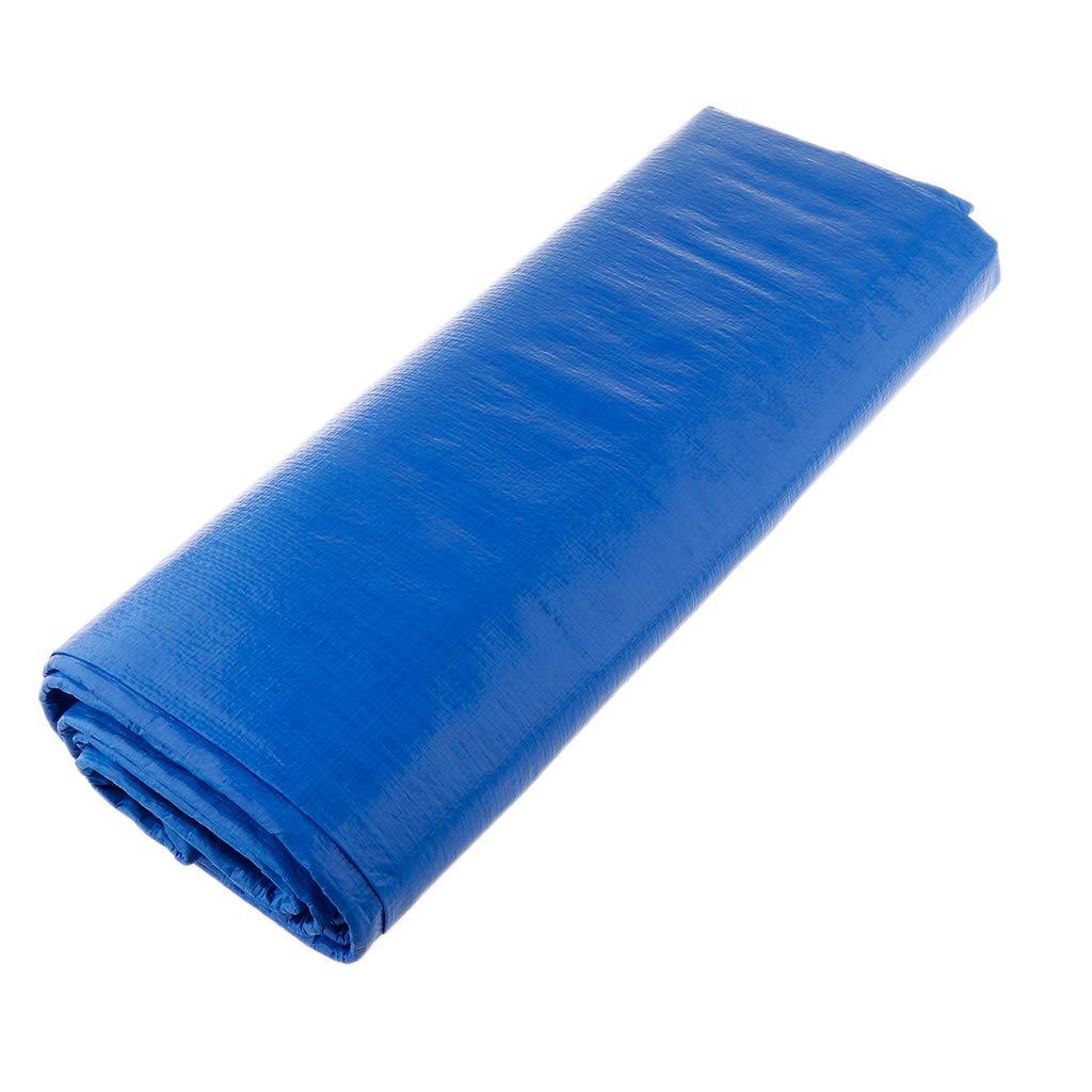 F Fityle Mehrzweck Plane Decken Camping Zelt Wasserdichte Abdeckplane, Verdickt, verschleiß fest - Blau 2x3 Meter