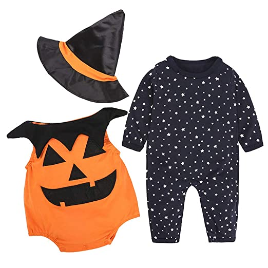 d1d931e33 Amazon.com  Sunny Baby Pumpkin Bodysuit Halloween Collectible ...
