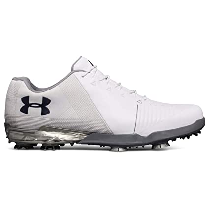 63ce01101efc Amazon.com: Under Armour New Mens Spieth 2 Golf Shoes White/Steel Size 11.5  W: Sports & Outdoors