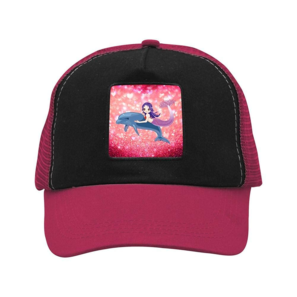 Mermaid Dolphin Mesh Caps Adjustable Unisex Snapback Trucker Cap