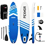 PEXMOR Inflatable Stand Up Paddle Board for Fishing Yoga Paddle Boarding with Premium SUP Accessories & Carry Bag