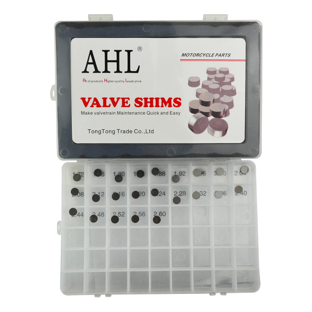 AHL 23pcs 8.85mm O.D. 1.72mm-2.60mm Thick Adjustable Valve Shim Kit for 450SX ATV/505SX ATV 2009-2011