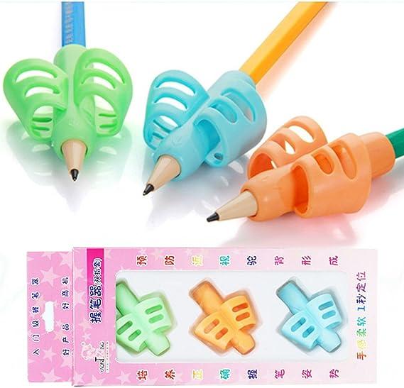 Artibetter 3pcs crayon grips aide /à l/écriture grip formateur posture correction doigt pour enfants enfants d/âge pr/éscolaire besoins sp/éciaux pour gauchers ou droitiers