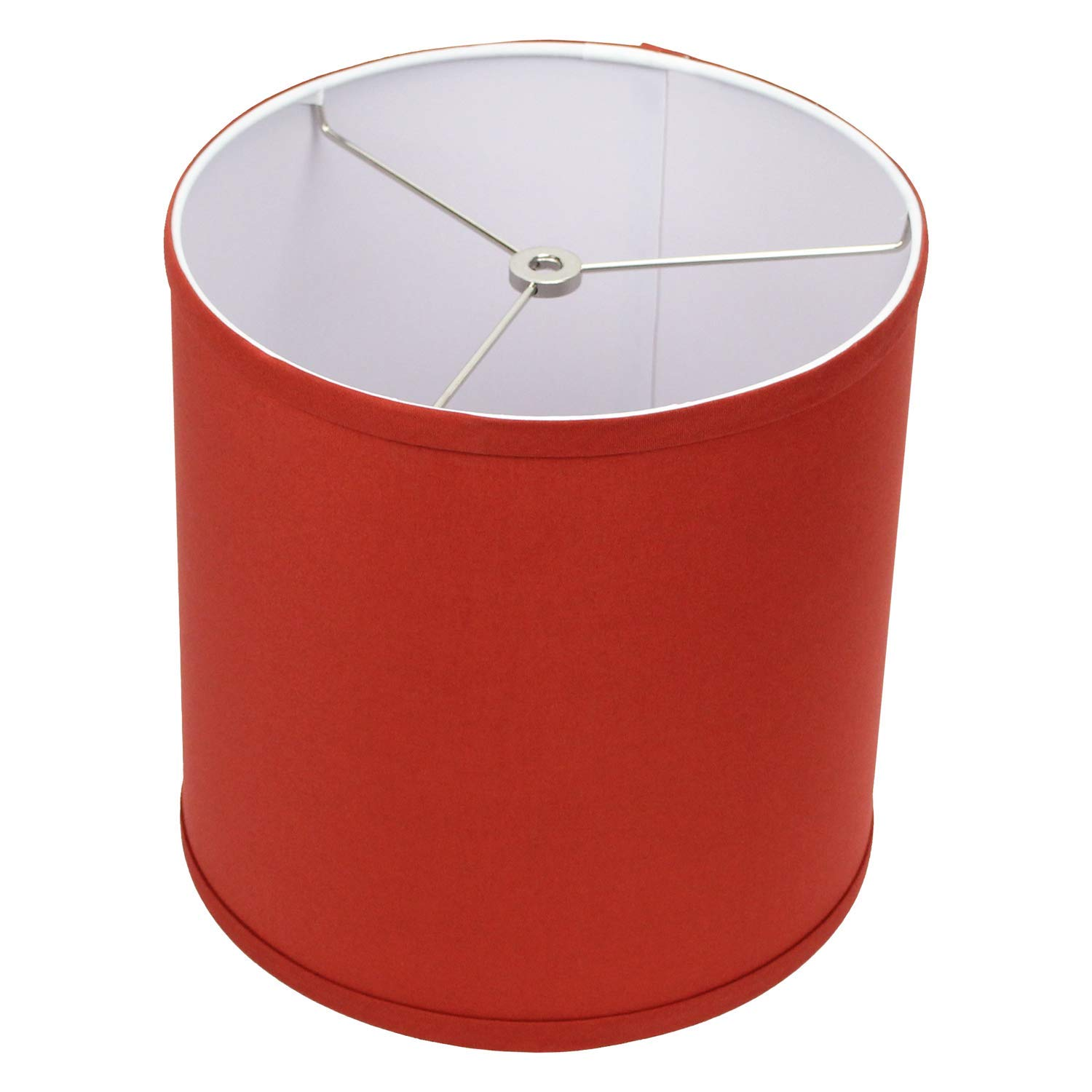 FenchelShades.com 10'' Top Diameter x 10'' Bottom Diameter 10'' Height Cylinder Drum Lampshade Liner USA Made (Paprika)