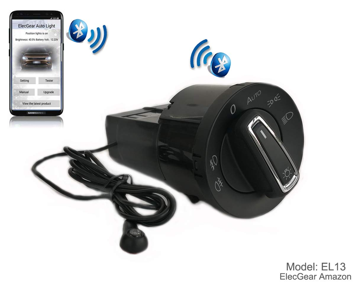EL11 Bluetooth App Commande Phare Feux auto commutateur Superb B5 Coming Leaving Home Relais Brouillard Lumi/ère Interrupteur de Contr/ôle Unit/é Citigo Combi Octavia 1 Fabia 2 Roomster 5J