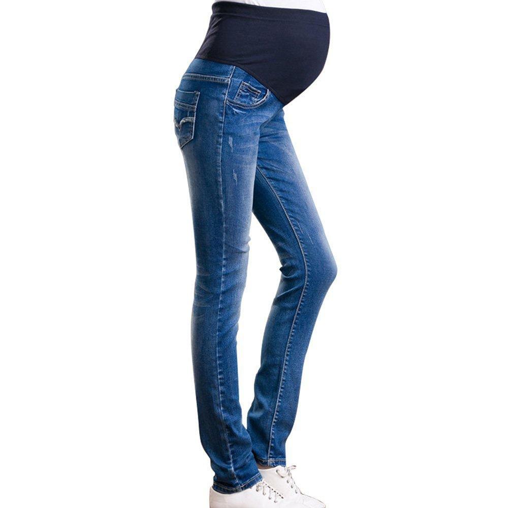 2018 Primavera Verano Nuevas Mujeres Maternidad Suave Pantalones Elásticos Leggings Waistband Jeans Over The Bump