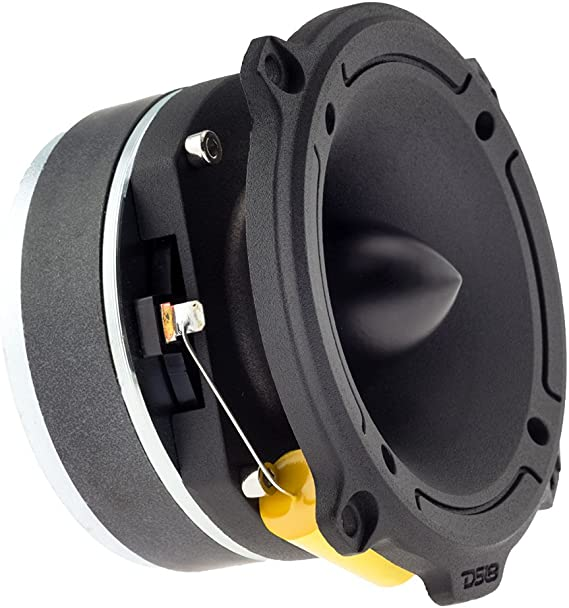 2 Speakers Included DS18 PRO-TW120B Aluminum Super Bullet Tweeter 1-inch 300W Max//200W RMS with Built In Mylar Capacitor Filter