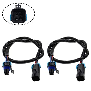 motoall 2pcs sensor header extension wire harness extender plug connector wiring loom lead 24\