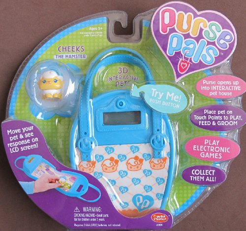 - PURSE PALS w SOUNDS, 3D INTERACTIVE Pet 'CHEEKS' the Hamster & PURSE w LCD Screen & INTERACTIVE Pet House (2006)