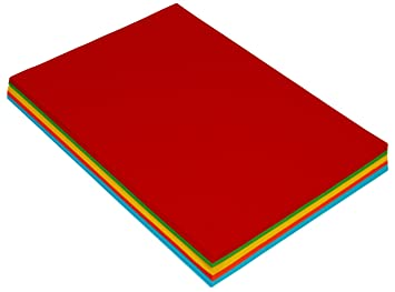 BeeMall Sadaf A4 Size General Purpose Color Paper 80 GSM Pack of