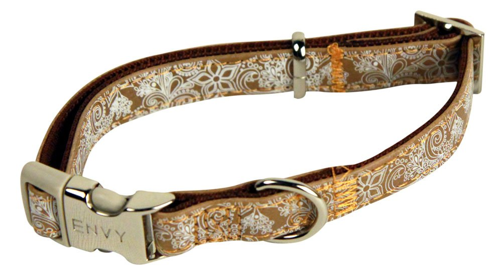 10mm x 200-330mm Brown Henna Dog Collar My Pet