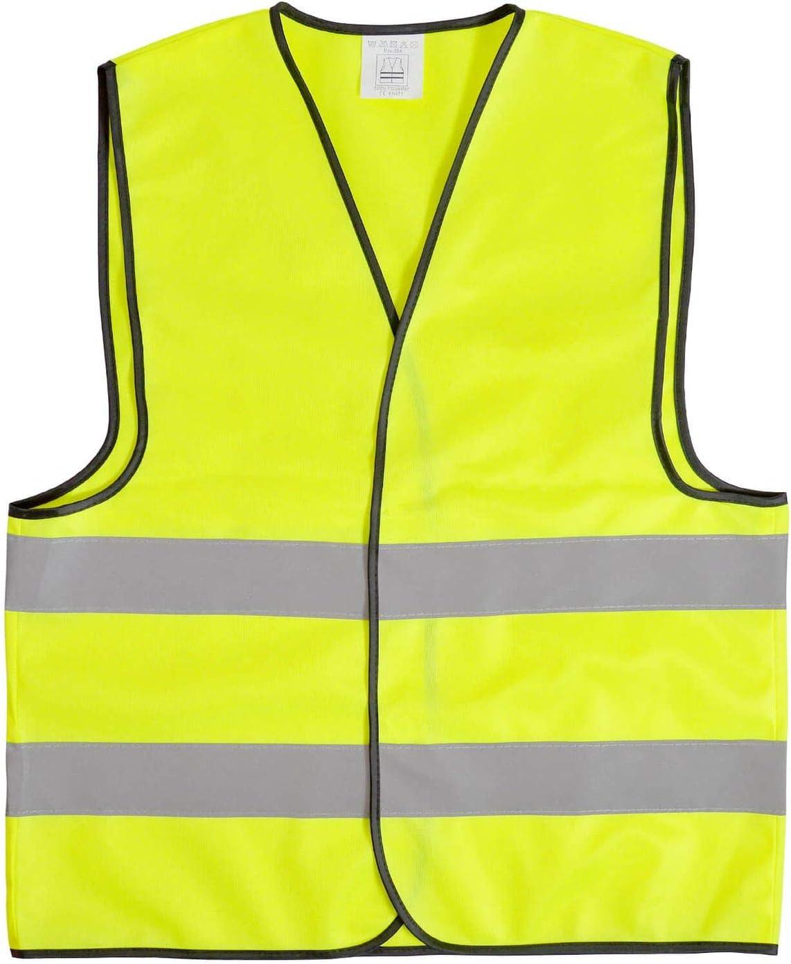 XL neonorange Warnweste Bitte Abstand Halten Sicherheitsweste Signal Weste Auto Joggen Laufweste Erwachsene Reflektor Orange Gelb mit Klettverschluss