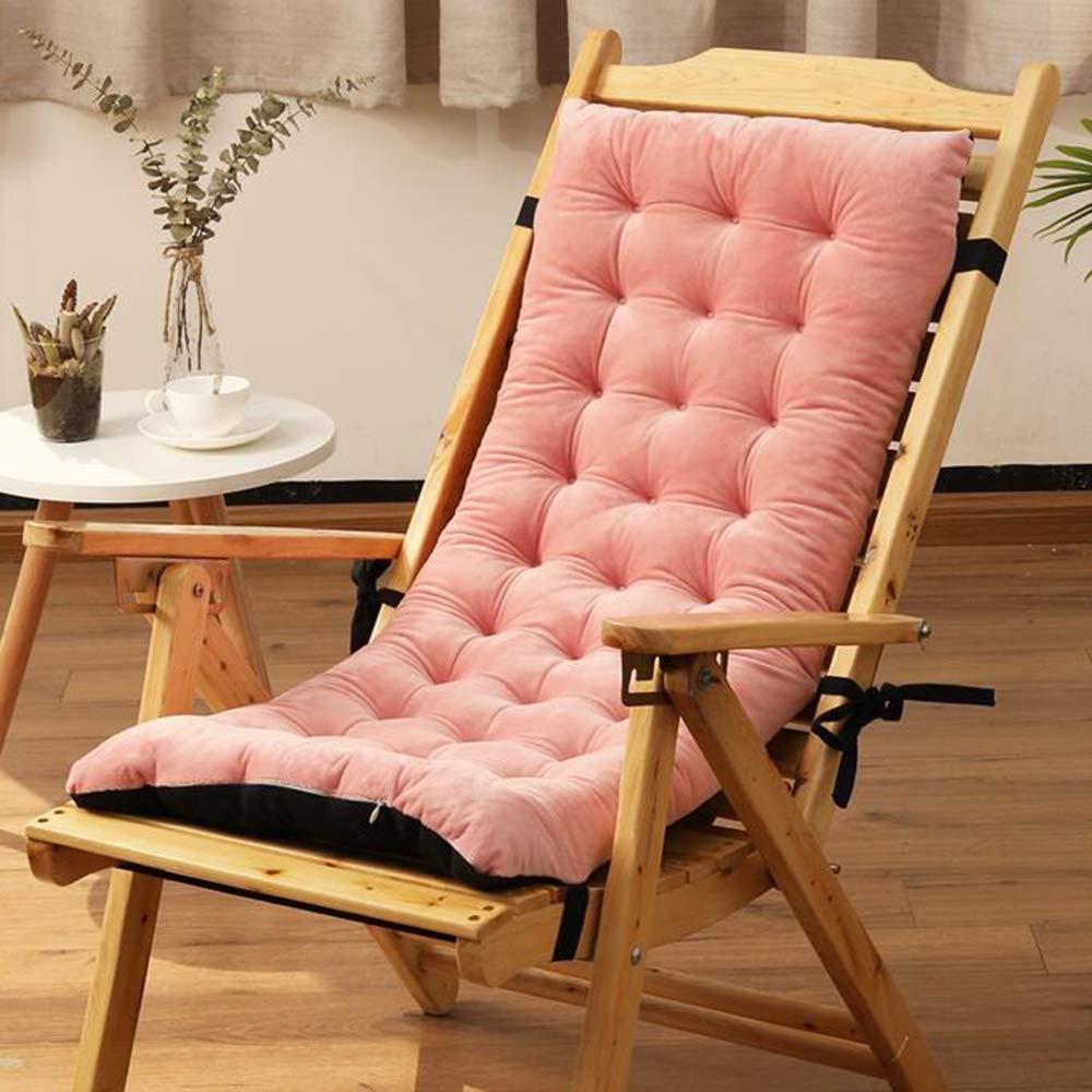 ZGYQGOO Lounge Chair Kissen, Terrasse Liegestuhl Kissen, einfarbig verdickt rutschfest für den Garten Outdoor Indoor Sonnenliege Matratze (nur Kissen) -pink 100x40x8cm (39x16x3inch)