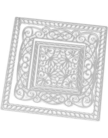 Shangwelluk Marco Cuadrado de Bricolaje Troqueles Scrapbooking, Acero al Carbono en Relieve Troqueles de Corte