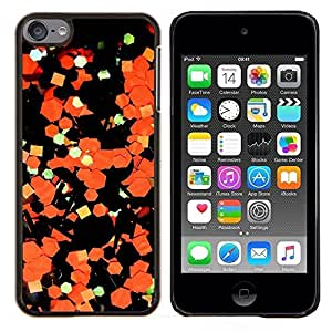 LECELL--Funda protectora / Cubierta / Piel For Apple iPod Touch 6 6th Touch6 -- Arte Abstracto Papel Naranja Negro --