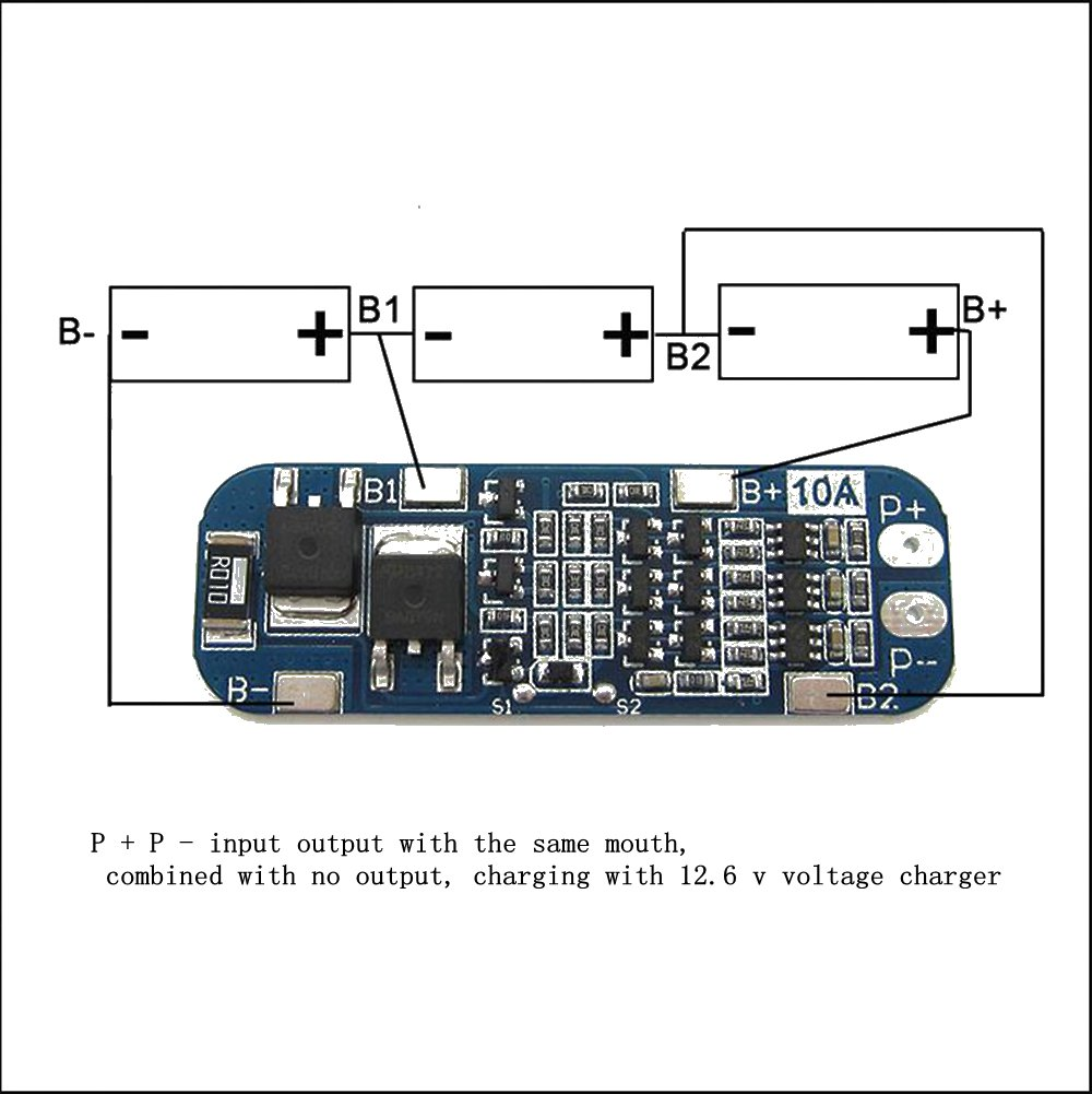 Buy Discounts24x7 Pcm Pcb Bms 10a 3s Charger Protection 108v 111v 20a Lithium Ion Battery Circuit Board For 18650 Li Cell Online At Low Prices In India