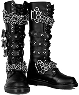 6a62027c6f50 Gothic Combat Lace Up Military Punk Biker Steampunk Alternative Mens Boots