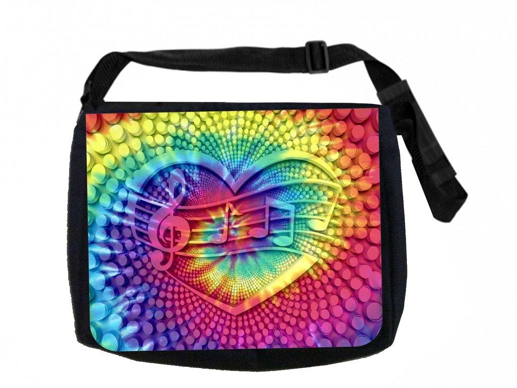 Musical Tie Dye Design Max Wilder TM Messenger Bag and Pencil Case Set