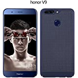 CELKASE Ultra Slim Mesh Case Lightweight Heat Dissipation Anti-Scratch Premium Hard Pc Shell Protective Case Cover For Huawei Honor 8 Pro/Honor V9 (Blue)