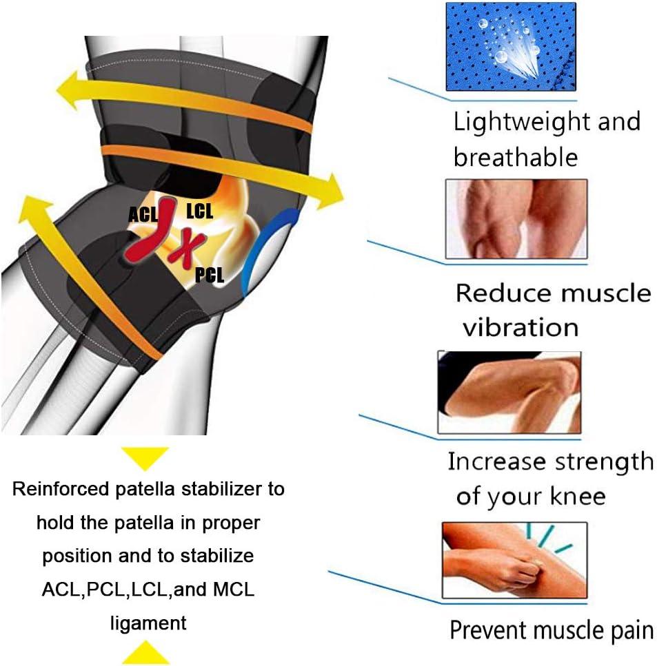 Antid/érapant Attelle Genou avec Anneau Stabilisateur /à Rotule Ouverte et N/éopr/ène respirant arthrose Id/éal pour D/échirure ligamentaire Ancocs R/églable Velcro Genouill/ère Rotulienne tendinite et cr