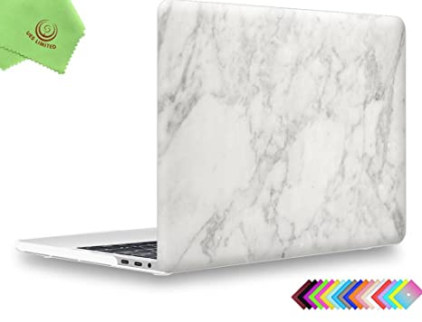 the best attitude efd88 ca4dd UESWILL MacBook Pro 13 inch Case 2019 2018 2017 2016, Marble Pattern Smooth  Hard Case for MacBook Pro 13 inch, 2/4 Thunderbolt 3 Ports (USB-C), Model  ...