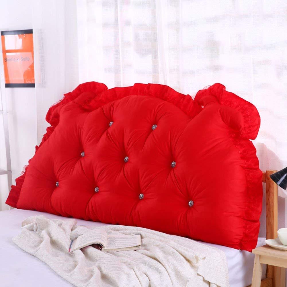 JIANHEADS ベッドサイドの読書枕背部クッション、ソファーマットクッション100%綿背もたれ位置決めサポート枕 (Color : P, サイズ : 125x70x15cm(49x28x6inch)) B07S3DKX8Q