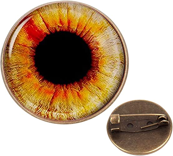 Pinback Buttons Badges Pins Eyeball Photo Lapel Pin Brooch Clip Trendy Accessory Jacket T-Shirt Bag Hat Shoe