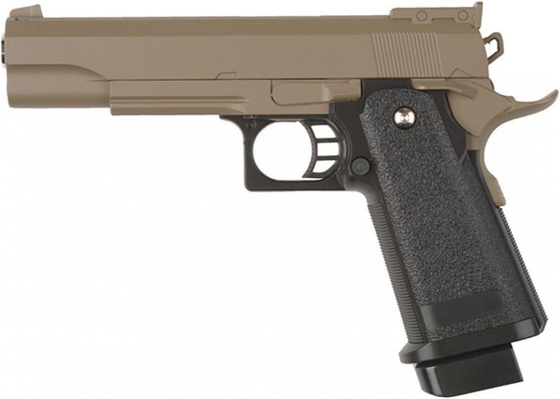 Pistola airsoft Galaxy G.6D negra metàlica. Calibre 6mm. Potencia 0,5 Julios