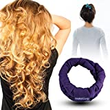 CharlieCurls: On The Go, One-Piece, Easiest ever No Heat Hair Curler (Plum)
