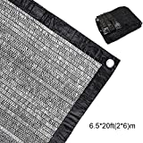 50% Sunblock Shade Cloth Net Black UV Resistant, Garden Shade Mesh Tarp for Plant Cover, Greenhouse, Barn or Kennel, Top Shade Cloth Quality Panel for Flowers, Plants, Patio Lawn (6.5×20ft(2×6m))