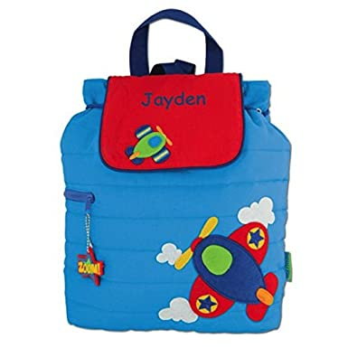 Amazon.com | Personalized Airplane Embroidered Backpack | Kids ...