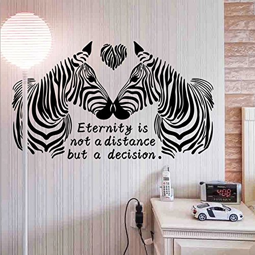 Cheap  Zebra Lover English Letters Heart Shape Wall Sticker Paper Home Decal Removable..