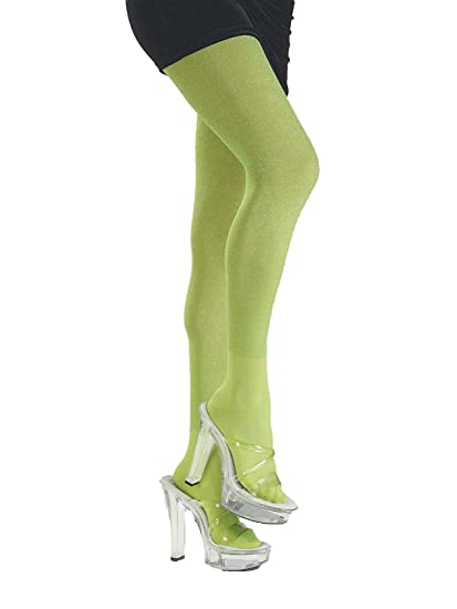 15d488deddb Amazon.com  Rubie s Lime Green Glitter Tights Costume Accessory Adult Std.  (Single Pack) 6825  Toys   Games