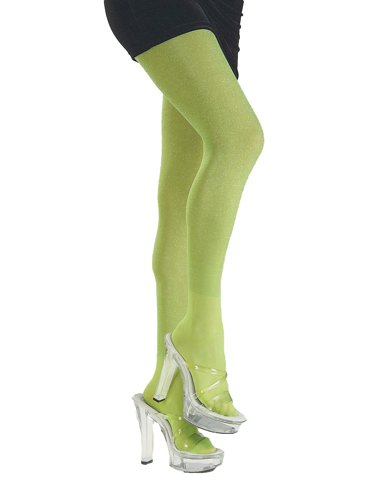 9ca77621e83 Amazon.com  Rubie s Lime Green Glitter Tights Costume Accessory Adult Std.  (Single Pack) 6825  Toys   Games